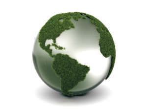 Weltkugel Gras-Grün