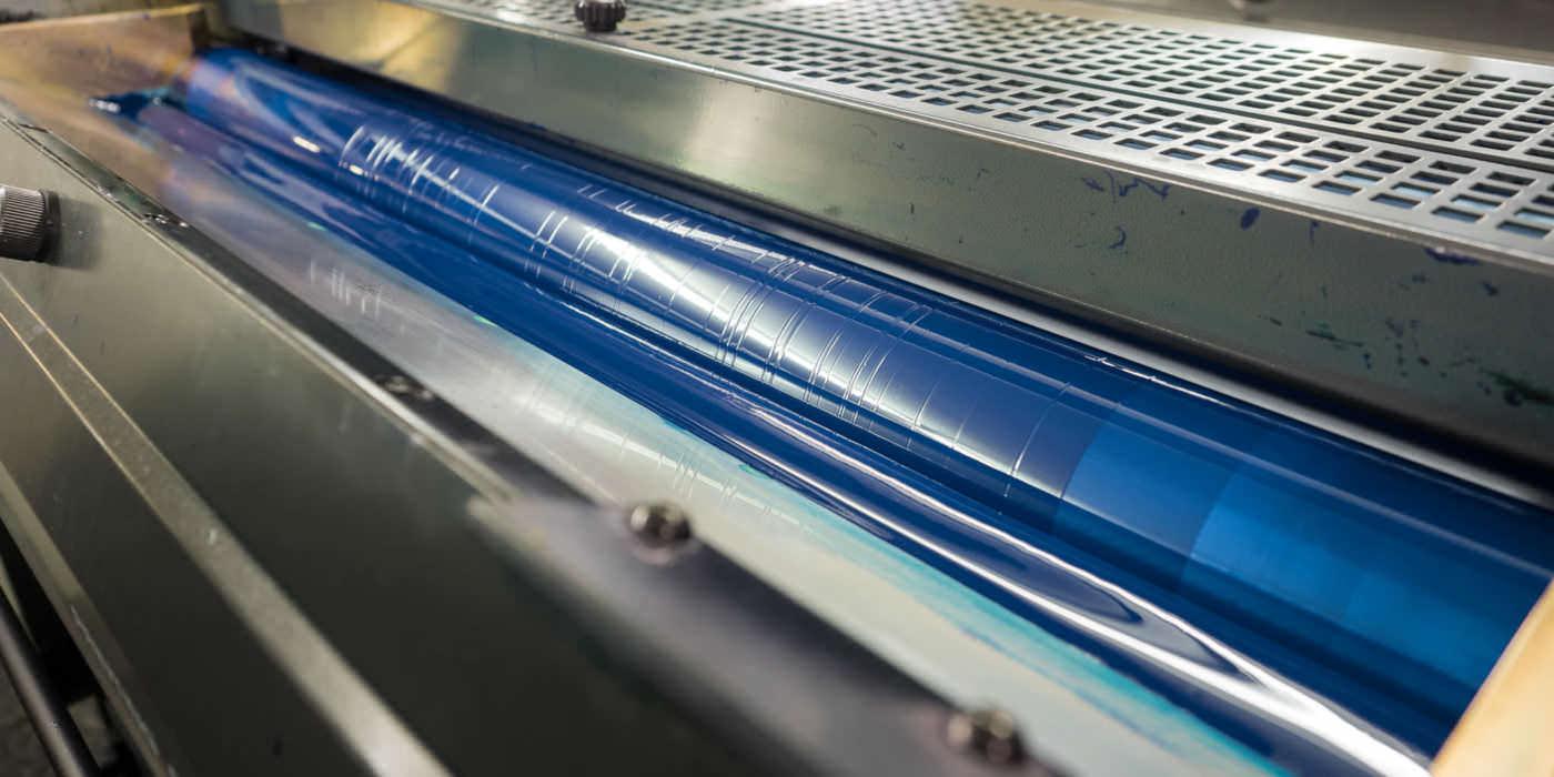 Im Drucksaal wird aus Papier Kunst