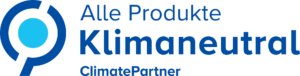 Logo Climatepartner alle Produkte Klimaneutral