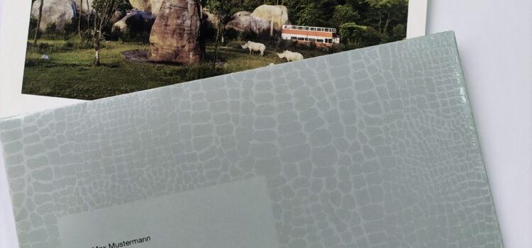 Exklusives Tierprint-Couvert mit Reliefdruck für Osterwalder Zürich AG